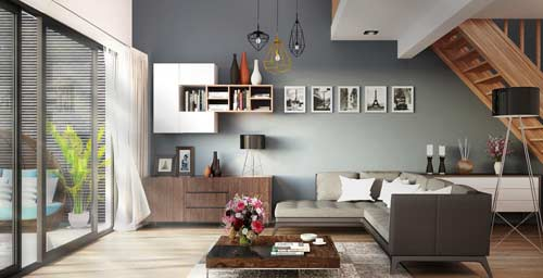 Wall colours for indoors and outdoors